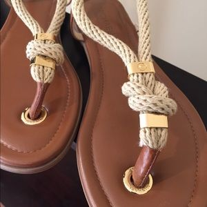 b269ee2925ad Michael Kors Shoes - Michael Kors  Holly  Rope Trim Leather Sandals